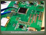 tests and validation of pcbs