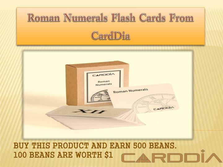 roman numerals flash cards from carddia n.