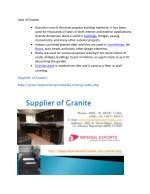 uses of granite