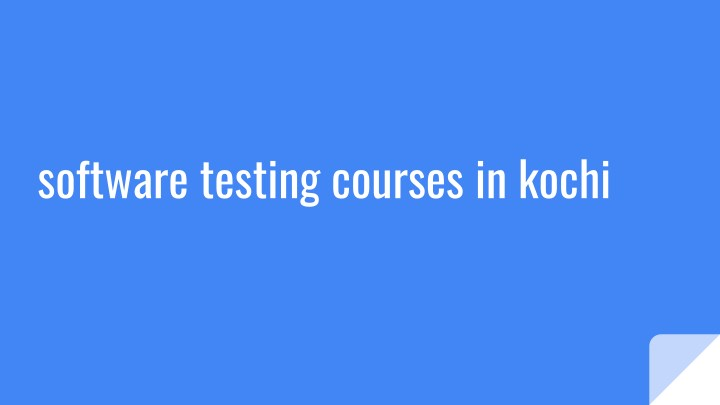 software testing courses in kochi n.