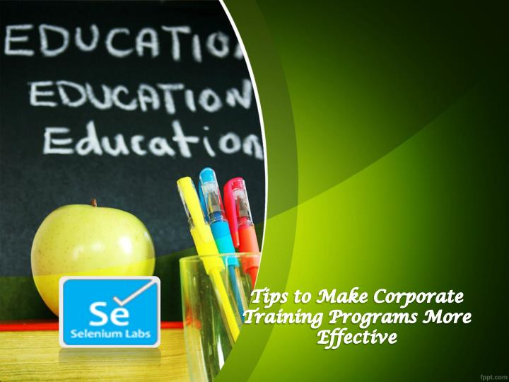 tips to make corporate training programs more n.