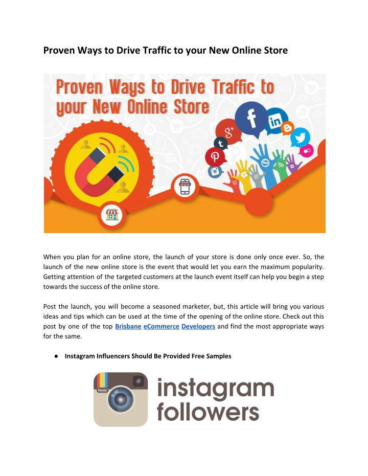 proven ways to drive traffic to your new online n.