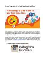 proven ways to drive traffic to your new online