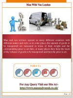man and van services operate in many different
