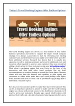 today s travel booking engines offer endless