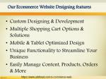 our ecommerce website designing features