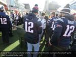 a sea of brady jerseys outside gillette stadium