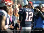 patriots quarterback tom brady was greeted