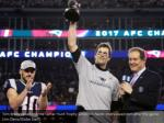 tom brady raised the the lamar hunt trophy while