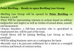 peter bertling ready to open bertling law group