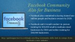 facebook community also for business