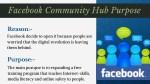 facebook community hub purpose