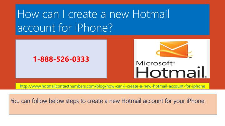 how can i create a new hotmail account for iphone n.