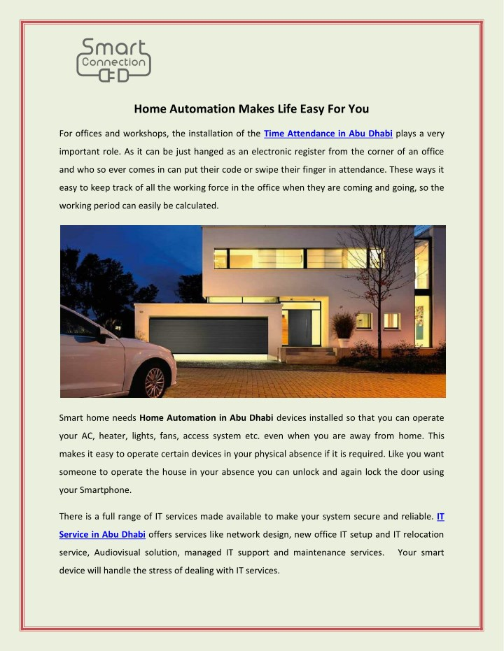 home automation makes life easy for you n.