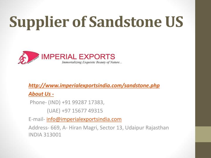 supplier of sandstone us n.