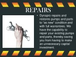 repairs dynapro repairs and restores pumps