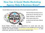 how can a social media marketing agency help
