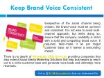 keep brand voice consistent