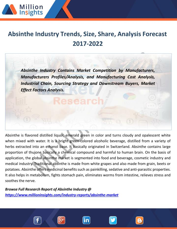 absinthe industry trends size share analysis forecast 2017 2022 n.