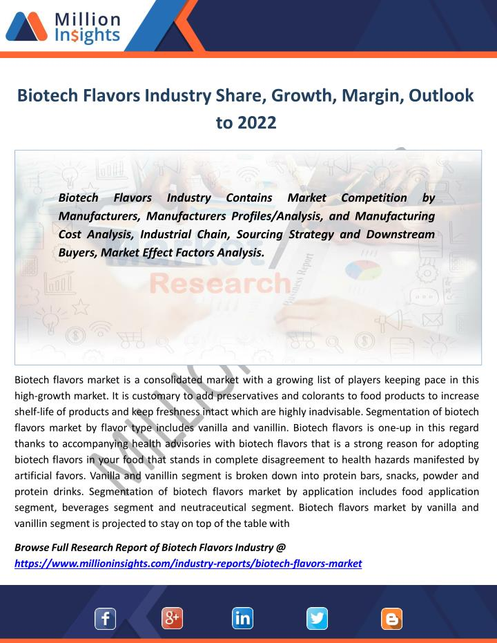 biotech flavors industry share growth margin outlook to 2022 n.