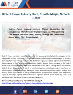 biotech flavors industry share growth margin outlook to 2022