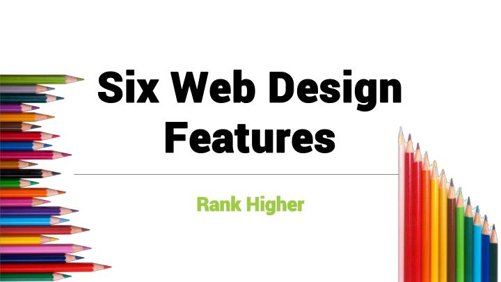 six web design features n.
