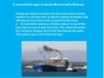 4 economical ways to boost marine fuel efficiency