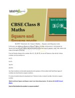 ncert solutions for class 8 maths square