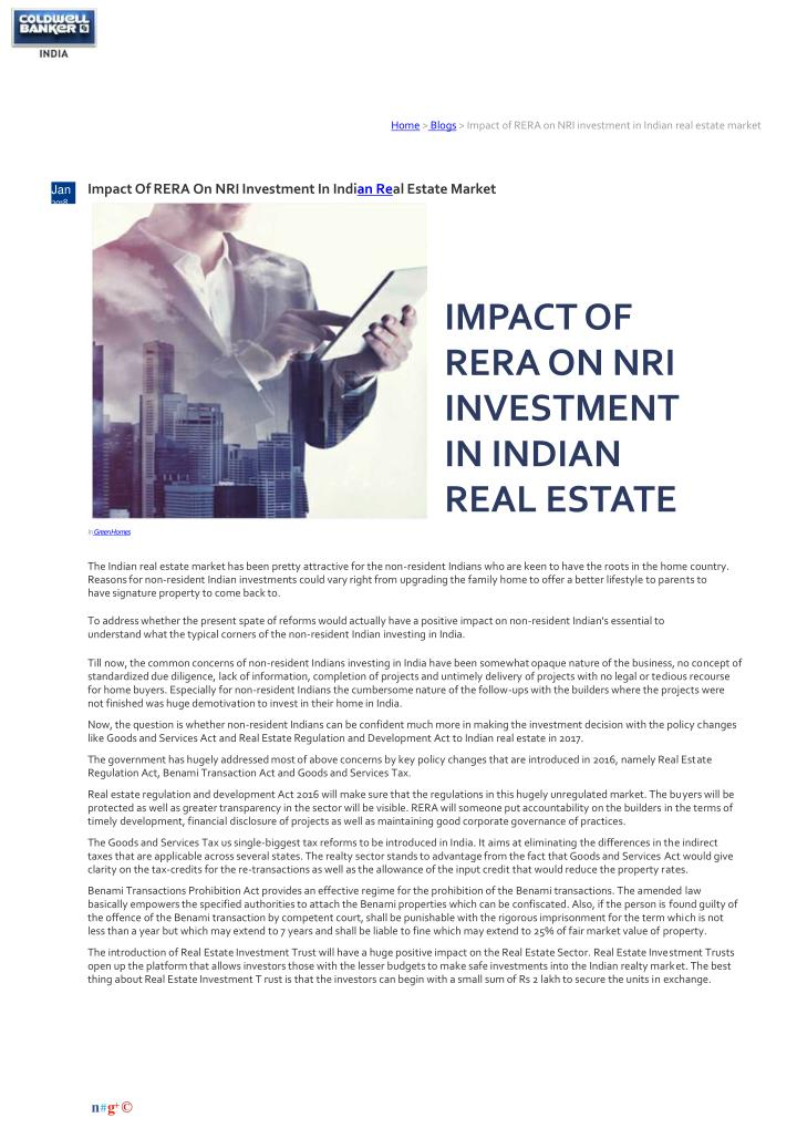 home blogs impact of rera on nri investment n.