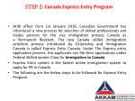 step 2 canada express entry program