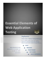 essential elements of web application testing