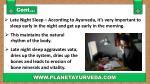 late night sleep according to ayurveda it s very