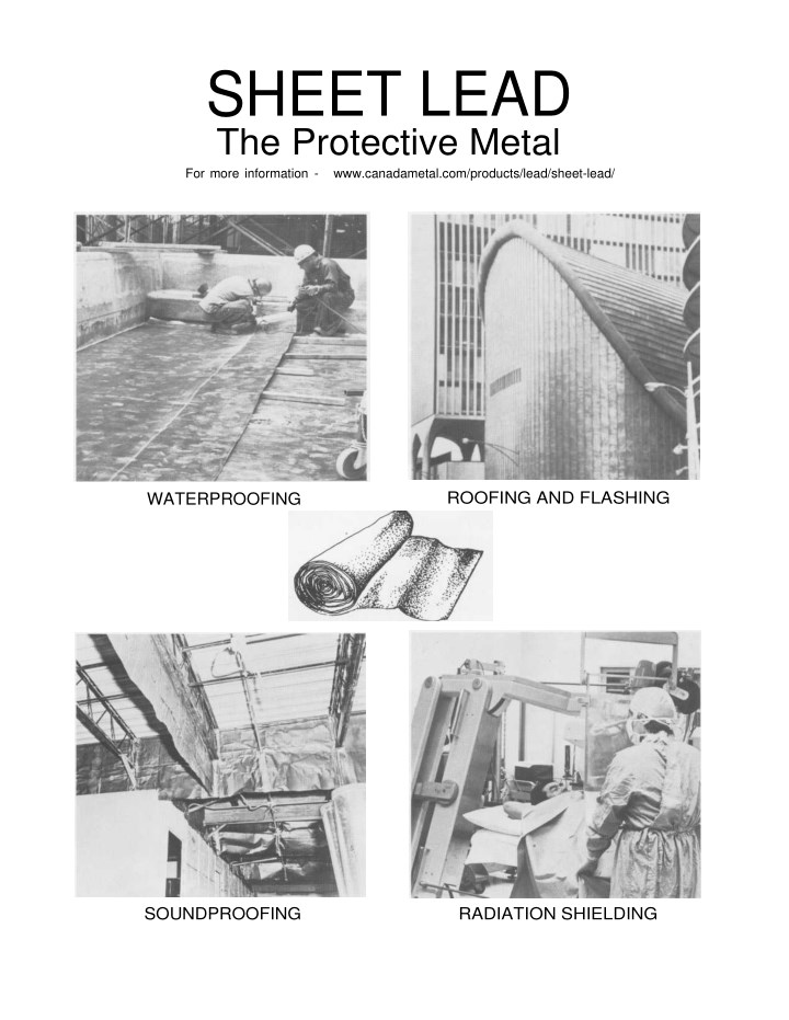 sheet lead the protective metal for more n.