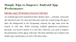 simple tips to improve android app performance