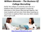 william almonte the business of college recruiting 1