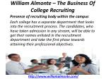 william almonte the business of college recruiting 2
