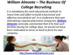 william almonte the business of college recruiting 3