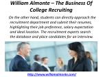 william almonte the business of college recruiting 5