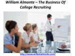 william almonte the business of college recruiting