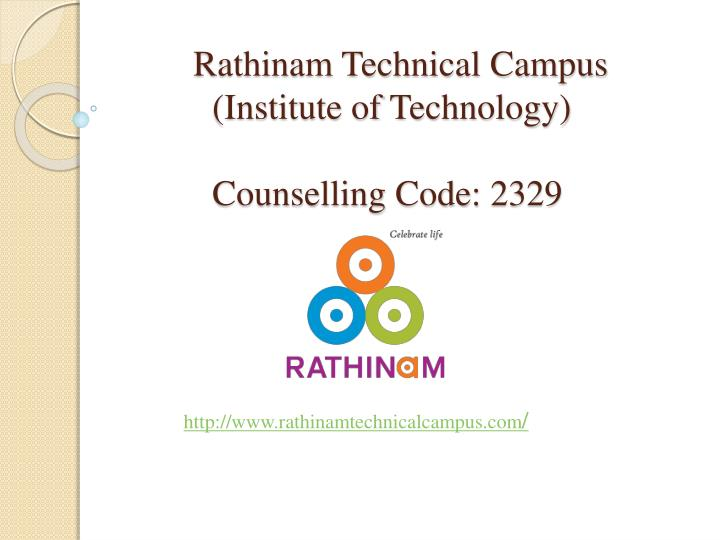 rathinam technical campus institute of technology counselling code 2329 n.