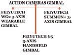 action cameras gimbal