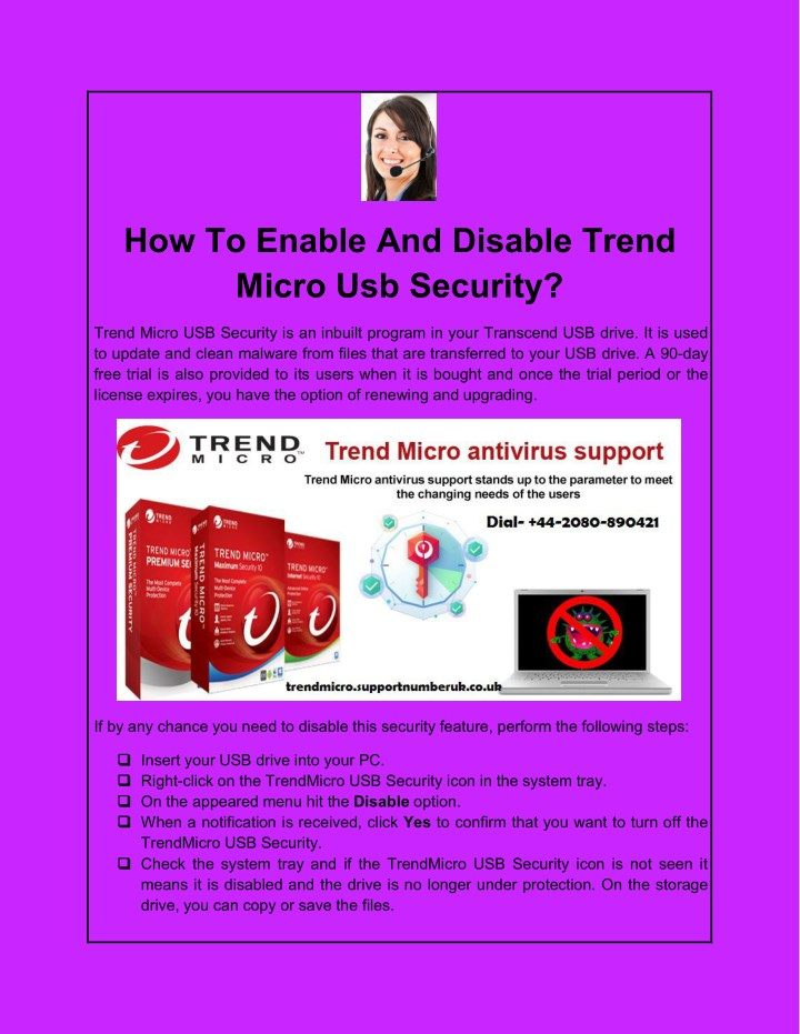 how to enable and disable trend micro usb security n.