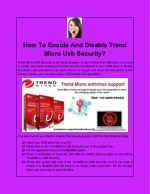 how to enable and disable trend micro usb security