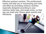 effective workout routines the professional