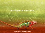 print online business card