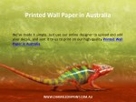 printed wall paper in australia 1