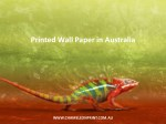 printed wall paper in australia