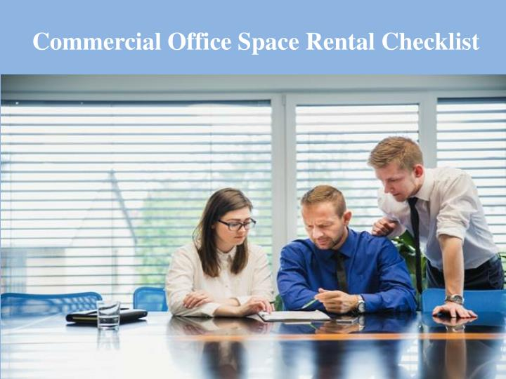commercial office space rental checklist n.