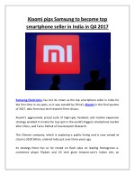 xiaomi pips samsung to become top smartphone