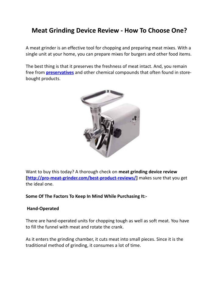 meat grinding device review how to choose one n.